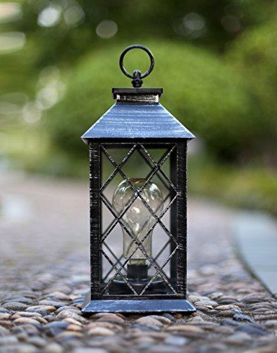 YaCool Decorative Garden Lantern - Vintage Style Hanging Lanterns Outdoor Lighting Garden Light - Battery-operated 5 Hour Timer- 12' (009) (Lighting Outdoor Style Lantern)