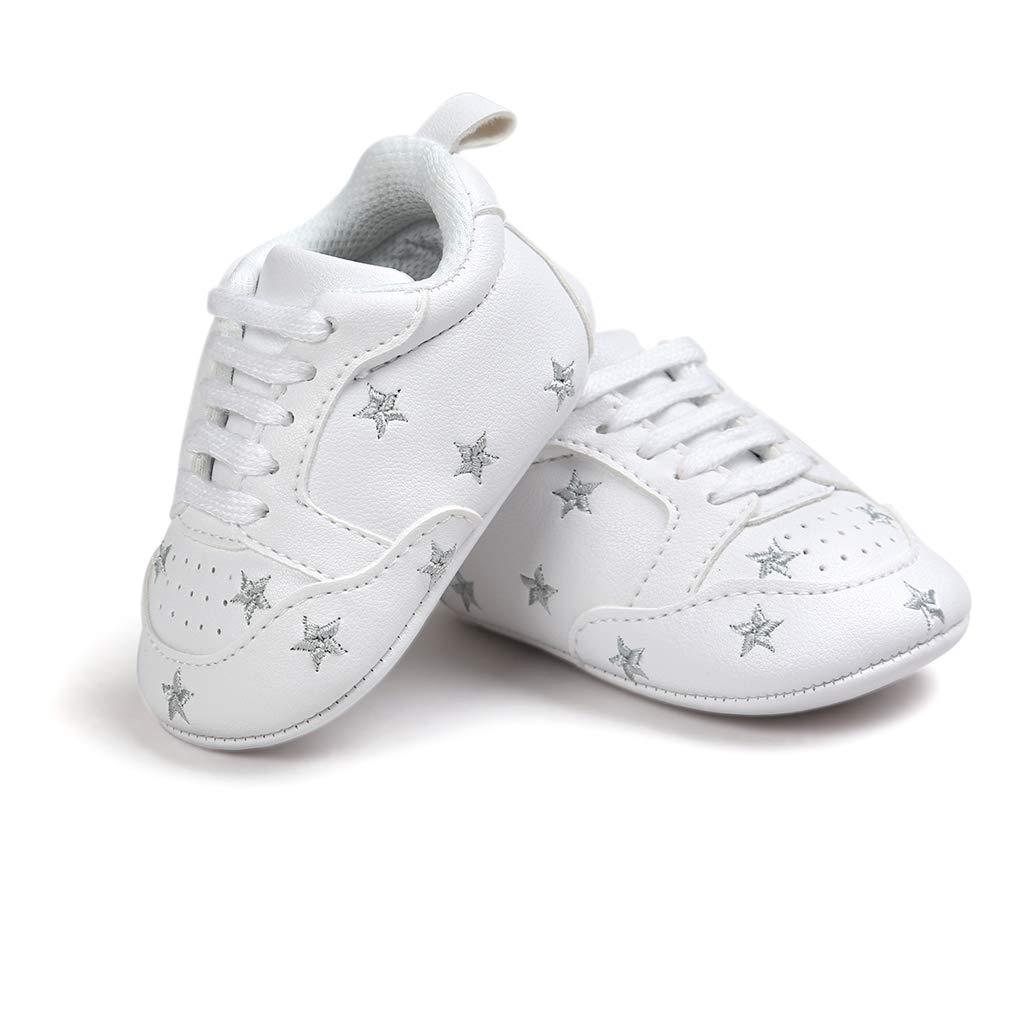 Baby Boy Girl Slip-on Stars Sneakers Anti-Slip Soft Sole First Walkers Crib Shoe