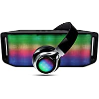 HyperGear RAVE Bluetooth Speaker & Headphones Combo with Multi-Colored Light Show