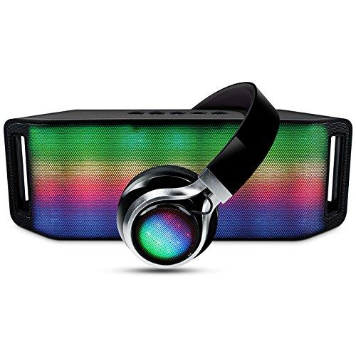 HyperGear Bluetooth Speaker Headphones Multi Colored product image