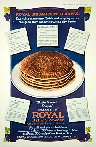 l Baking Powder Pancakes Griddle Cakes Flapjacks Recipes - Original Print Ad (Graham Flap)