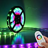 IREALIST RGB Color Changing Flexible LED Strip Light Kit with Touch Screen Led Light RGB Controller (WaterProof 10M/600LED)