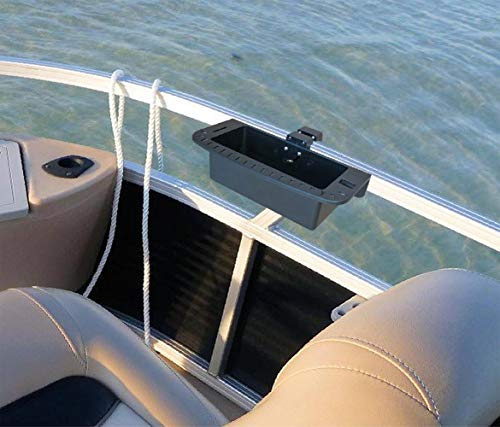 Brocraft Pontoon Boat Marine Caddy/Pontoon Boat Cockpit Organizer/Square Rail Boat Storage Box/Pontoon Boat Cup Holder