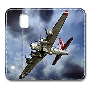 Leather Samsung Galaxy S5 Flip Case Cover, Boeing B-17 Flying Fortress Samsung Galaxy S5 Full Body Protector Leather Flip Folio Case Cover, Original Design And Made By PhilipHayes