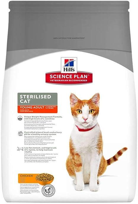 Hill`s Science Plan Alimento con Sabor a Pollo para Gatos Adultos ...