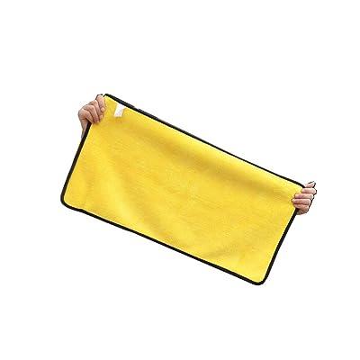 3 Serviettes De Lavage De Voiture Chiffon De Nettoyage Serviette Spéciale Absorbant Épaississement Pas De Menthe Pas De Trace Chiffon Fournitures De Voiture Outils (Color : Yellow) Auto et Moto