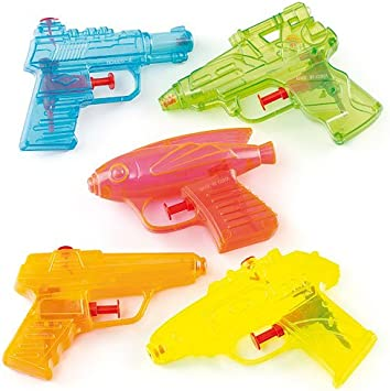 Pistolas de Agua Transparentes para niños - Bolsa de Relleno para ...