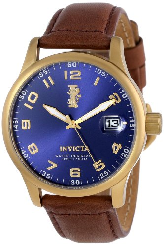 Invicta-Mens-15255-I-Force-18k-Gold-Ion-Plated-Stainless-Steel-and-Brown-Leather-Watch