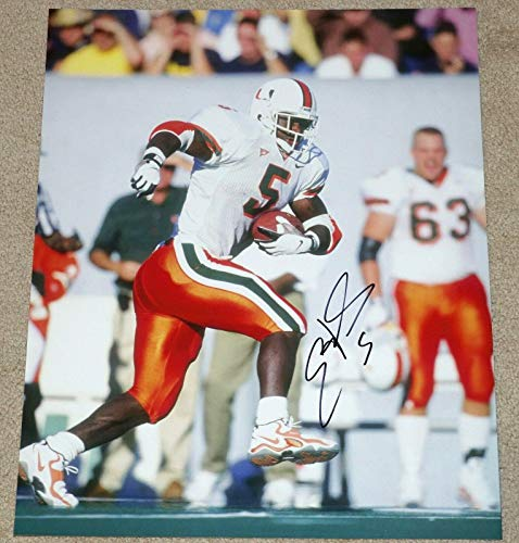 (Autographed Edgerrin James Photograph - 16x20 Colts HOF 2019 ? - Autographed College)