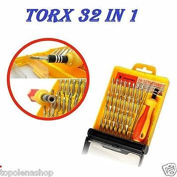 Juego 32 en 1 puntas de precisión destornilladores Torx para móviles ...