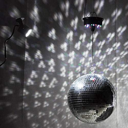 Tivollyff 大型ミラーガラスディスコボールDJダンスホームパーティーバンドクラブステージ照明耐久性ディスコボールライト