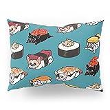 Society6 Sushi Frenchie Pillow Sham Standard (20'' x 26'') Set of 2