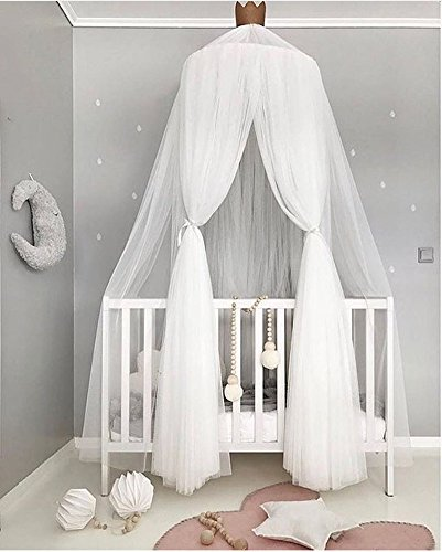 Mosquito Net Bed Canopy Yarn Play Tent Bedding for Kids Playing Reading Round Lace Dome Netting Curtains Baby Boys Girls Games House