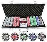 JP Commerce 500pc 11.5g Casino Ace Poker Chips Set
