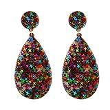Dds5391 New Women Trendy Geometric Star Acrylic Waterdrop Dangle Drop Stud Earrings Jewelry - Multicolor
