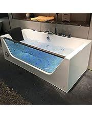 Whirlpool Massage Hydrotherapy Acrylic White Bathtub,freestanding bathtub