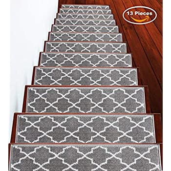 Seloom Carpet Stair Treads Non Slip Indoor Set Of 13 Stair