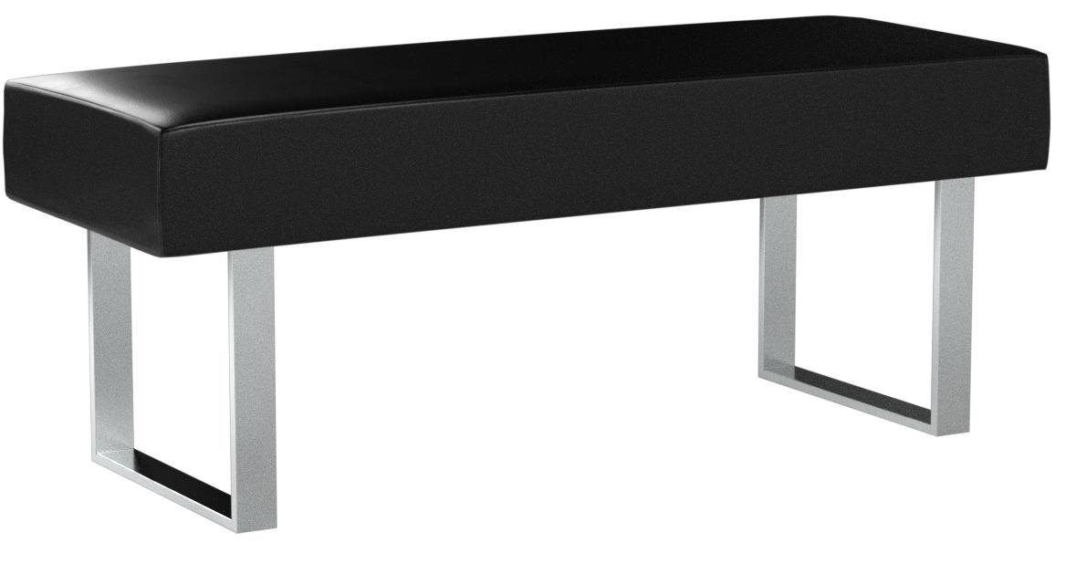 Armen Living LCAMBEBLBCH Amanda Bench in Black and Chrome Finish by Armen Living (Image #5)