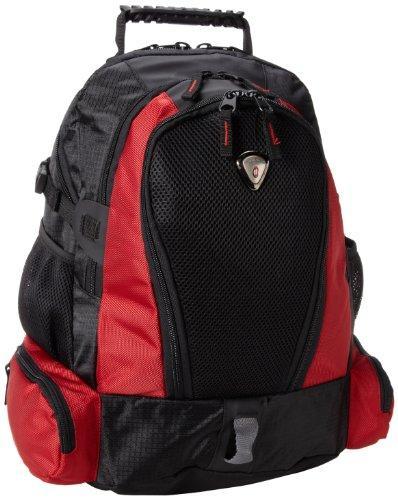 CalPak Pinnacle 18-inch Laptop Backpack, Deep Red, One Size