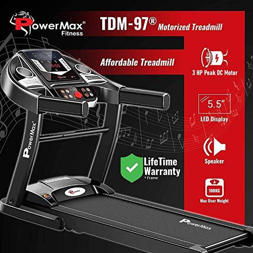 PowerMax Fitness TDM-9x Series – Light, Foldable, Electric Treadmill