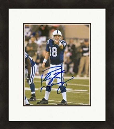 Autograph 223930 Indianapolis Colts Cf ScNo. 1 Matted & Framed (Framed Autograph)