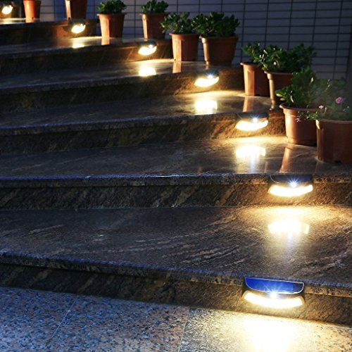 2 pack easternstar solar step lights outdoor8 led solar motion 2 pack easternstar solar step lights outdoor8 led solar motion sensor wall lights infared pir wall sconces wireless secuity night light lamps for garden aloadofball Image collections