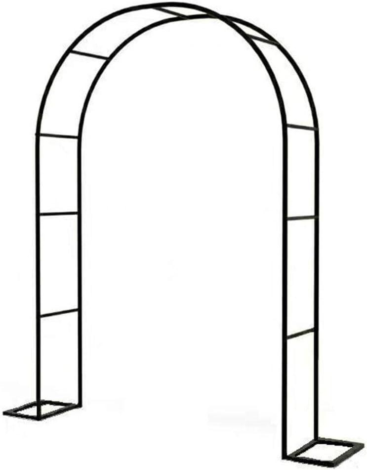 LXLH Arcos de jardín, Arco de jardín de Hierro Forjado, fácil de Montar, Arcos de Boda, Arcos de Escalada, Personalizables, utilizados para Plantas trepadoras, decoración de jardín, Interior