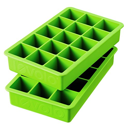 Tovolo Perfect Cube Spring Green Silicone Ice Cube Tray Set Of 2 Trays (Tovolo Ice Cube compare prices)