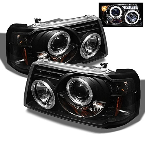 2001 Ford Ranger Headlight - For 2001-2012 Ford Ranger Pickup 2 in 1 Black Bezel Dual Halo Ring Projector Headlights w/Corner Signal Lamps