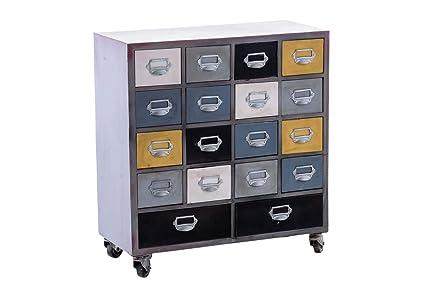 Cassettiere Industriali Metallo.Clp Vayu Cassettiera Multiuso In Metallo Design