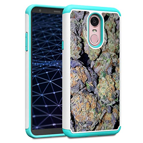 (LG Stylo 4, LG Stylo 4 Plus Case, AMOOK Shockproof Hybrid Dual Layer Hard PC Cover Soft TPU Heavy Duty Bumper Protective Case Cover for LG Stylo 4,Weed Nuggets)