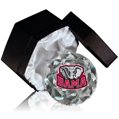 NCAA Crimson Tide Alabama University Logo 4-Inch High Brillance Diamond Cut Crystal - Crimson Alabama Tide Crystal
