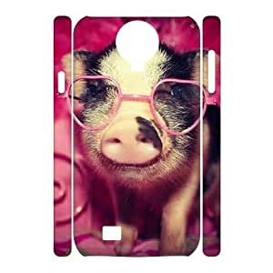 lintao diy case Of Pig 3D Bumper Plastic Cell phone Case For Samsung Galaxy S4 i9500