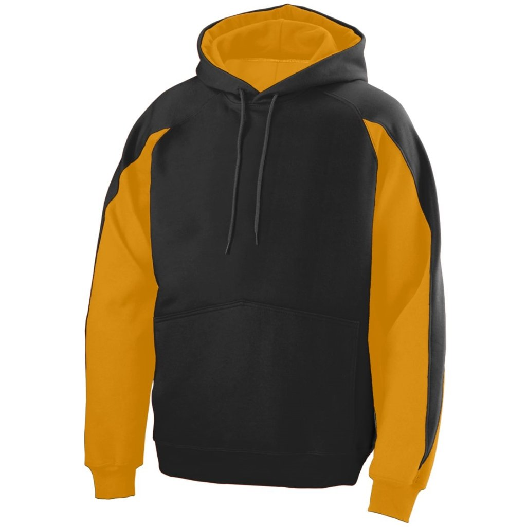 Augusta Youth Volt Hoody- Style 5461 (Small, Black/Gold)