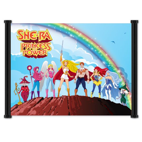 (She-Ra - Princess of Power: Cartoon Group Fabric Cloth Wall Scroll Poster (21' x 16'))
