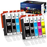 GPC Image Compatible Ink Cartridge Replacement for HP 564XL 564 XL to use with DeskJet 3520 3522 Officejet 4620 Photosmart 5520 6510 6515 6520 7520 7525 D7560 (Black Cyan Magenta Yellow