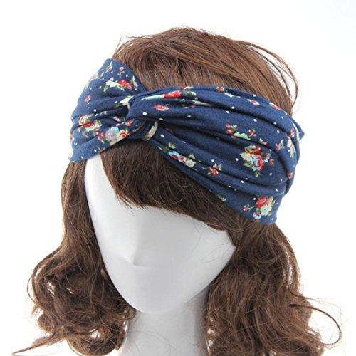 Adeshop Europa accessori Headwear multicolore Boemia croce e banda 9 stile nuovi donne per capelli cotone America 1pcs 6 stampa fascia colori rO4ECqwr