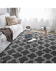 Alfombras suaves y esponjosas para sala de estar, alfombra de pelo peludo, alfombra para habitación de niños, alfombra de decoración para interiores y hogares