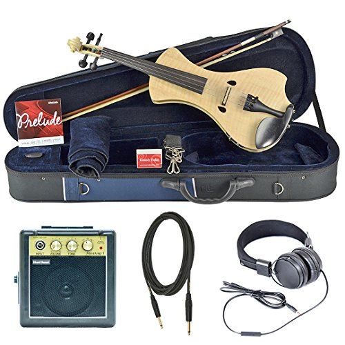 Bunnel NEXT Forte Electric Violin Outfit (Natural Flame) Amp Included by Kennedy Violins