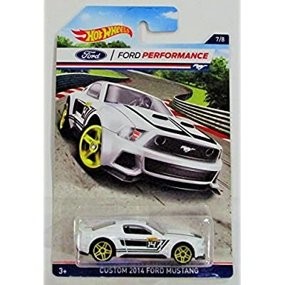 HOT WHEELS FORD PERFORMANCE WHITE CUSTOM 2014 FORD MUSTANG 7/8: Toys & Games