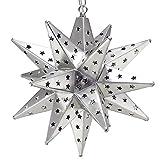 Moravian Star Light, Star Pierced Tin, Silver, 15''