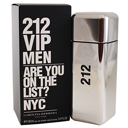 (212 Vip by Carolina Herrera Eau De Toilette Spray for Men, 3.4 Ounce)