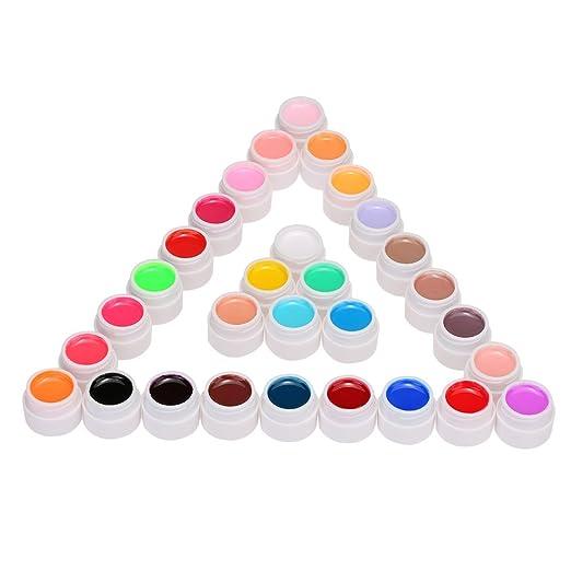 2 opinioni per Anself UV Nail Gel Polacco Estensione Mix Puro Colori Professionale UV Gel Set
