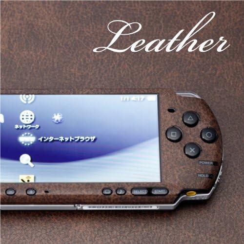 decotto PSP-3000専用デコシート decotto レザー-クラシックブラウン柄 2面セット