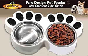 Amazon.com : Paw Design Pet Feeder with Stainless Steel
