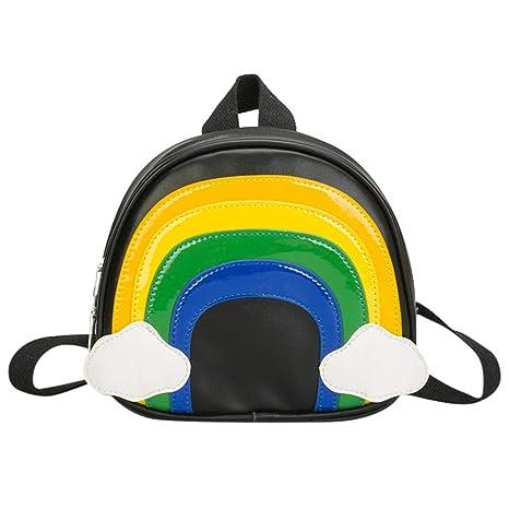 STRIR Bolsa Escuela Bolso Escolar Dibujos Rainbow Animados ...