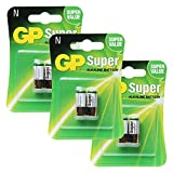 GP Alkaline Battery GP 910A, LR1 - N 1.5V, 3PACK 6PCS