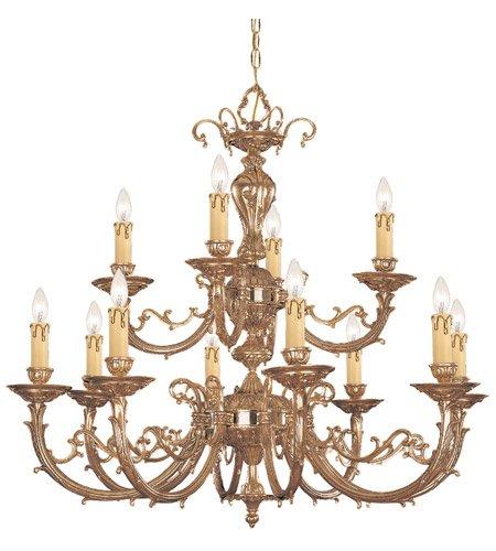 Chandeliers 8 Light With Olde Brass Cast Brass 32 inch 480 Watts - World of Lighting