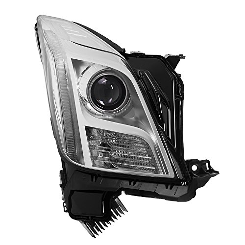 Carpart4u - 2013-15 Cadillac XTS Xenon non-AFS HID OE Chrome Housing Projector Headlights - Right