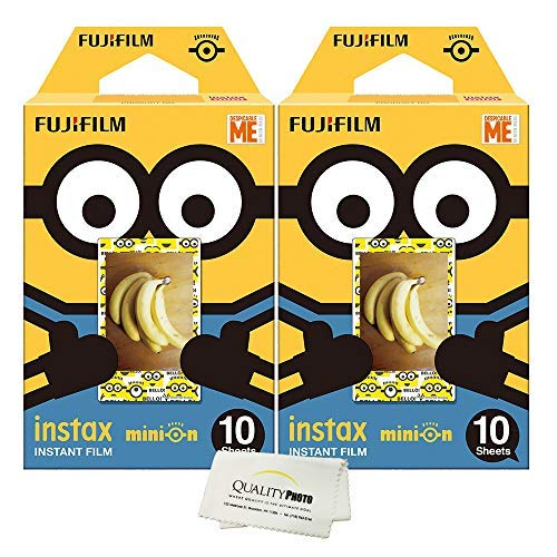 Fujifilm INSTAX Mini Instant Film 2 Pack = 20 Sheets for Fujifilm Mini 8 & Mini 9 Cameras (Minion) -